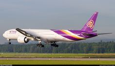 A great and colorful vortex maker inbound from Bangkok on a early morning.. HS-TKR. Boeing 777-3ALER. JetPhotos.com is the biggest database of aviation photographs with over 3 million screened photos online!