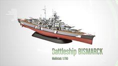 CORFIX | Plastic ModelKit loď 05098 - Battleship Bismarck (1:700)