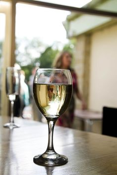 The Halfway Yummy Drinks, White Wine, Wine Glass, Alcoholic Drinks, Tableware, Dinnerware, Tablewares, White Wines, Liquor Drinks