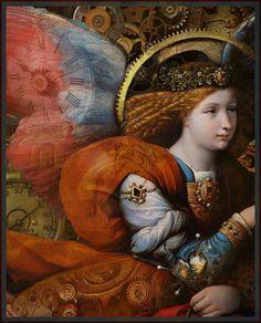 The Annunciation (detail) Benvenuto Tisi, 1528 Seraph Angel, Renaissance Kunst, La Madone, I Believe In Angels, Ange Demon, Angels Among Us, European Paintings, Guardian Angels, Angel Art