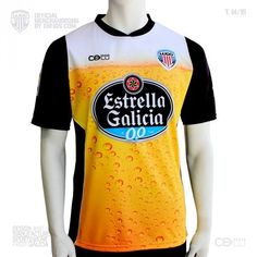 Camiseta alternativa #Beer de Club Deportivo Lugo 2014/2015 por CELU.