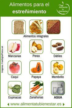 Alimentos para el estreñimiento. #Nutrición y #Salud YG > nutricionysaludyg... #nutricioninfografia