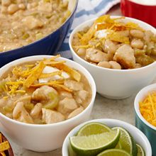 Chicken & White Bean Chili......This recipe makes a full flavored thick chili for a great lunch or dinner treat.