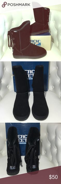 """Beach Feet lace up Uggs. SUPER CUTE! Lace up Ugg-like boots. So comfortable! Even more comfortable than Uggs in my opinion. 11"""" tall. Comes with original box. Only worn once or twice. Like new! (Labeled as Ugg for visibility. These are made by Beach Feet Australia) UGG Shoes"""