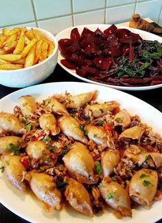 Greek Recipes, Fish Recipes, Seafood Recipes, Cooking Recipes, Healthy Recipes, Fish Plate, Greek Cooking, Tasty, Yummy Food