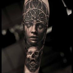 Bad ass #macabre #skull portrait by Mumia - Tattoo Artist!