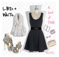 """LBD + white & hint of pink"" by claudia-araya-molina on Polyvore"