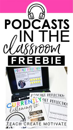 Are you using podcasts in your classroom yet? There are LOTS of benefits of using podcasts in your classroom with your students! Foster reflective thinking with this FREEBIE and start using podcasts with your students today! Teaching Technology, Educational Technology, Teaching Tools, Teacher Resources, Technology Tools, Teacher Freebies, Teachers Toolbox, Music Teachers, Teaching Gifted Students