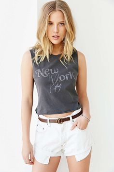 Future State City Signs Cropped Muscle Tee