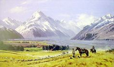 Musterers, Mt Cook by Peter Beadle for Sale - New Zealand Art Prints