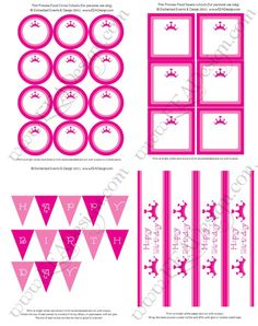 FREE Princess Party Printables!