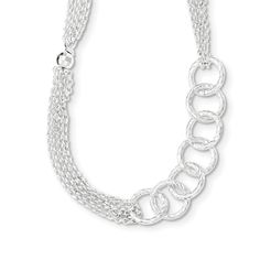 Sterling Silver Twisted Circle & D/c Bead W/1in Ext Necklace. We encourage you to read the product description below in full before you place your order. So that you do not receive a product that you did not expect, especially width/length if available. We offer 30 Days Hassle Free Returns!. Goldia is one of the top performing Jewelry/Gift Category Vendors in Amazon Prime.