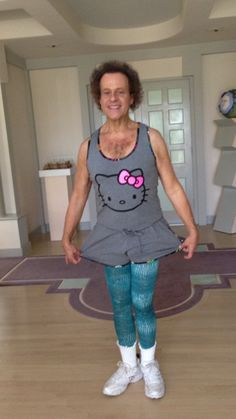 Richard Simmons in Hello Kitty... oh my.