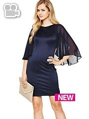 We love this super elegant Definitions Chiffon Cape Dress. #partyinstyle http://www.very.co.uk/women/dresses/e/b/1655.end