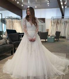 Long Wedding Dress,Tulle Wedding Dress,Long Sleeve Wedding Dresses,Bridal