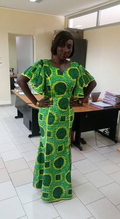 Online Hub For Fashion Beauty And Health: Lovely Straight Up Long Gown Dress For The Divas African Dresses For Kids, Latest African Fashion Dresses, African Dresses For Women, African Print Dresses, African Print Fashion, African Attire, African Print Dress Designs, African Blouses, Long Gown Dress