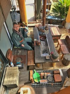アウトドアリビング Japanese Home Design, Japanese Style House, Traditional Japanese House, Japanese Table, Japanese Kitchen, Indoor Outdoor Living, Outdoor Life, Massage Room Design, Irori