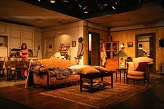 A Raisin in the Sun, by Lorraine Hansberry, Directed by Kenneth Washington, set design by Sarah Coombs, costume design by Tricia Barsamian, lighting design by Driscoll Otto, photo by George Mott. NYU Department of Graduate Acting, Atlas Room, 2006.
