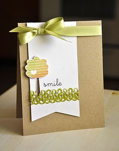 Smile Card by Maile Belles for Papertrey Ink (September 2012)