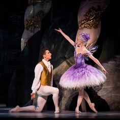 Amber Scott as the Lilac Fairy with Kevin Jackson as Prince Desire in Act 2 of David McAllister's new production of the Sleeping Beauty for the Australian Ballet. Ballet Tutu, Ballet Dancers, Bolshoi Ballet, Ballet Costumes, Dance Costumes, Carnival Costumes, Tutu Rose, Kevin Jackson, Sleeping Beauty Ballet