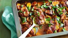 Lamb chop and potato bake  by Julie Goodwin  A delicious and easy to prepare one dish meal although I need to cook it longer for the potatoes to be tender.