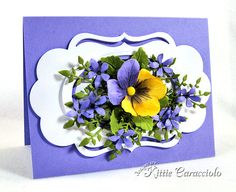 Framed Pansy by kittie747 - Cards and Paper Crafts at Splitcoaststampers
