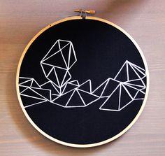 Walkin in Space Geometrics Hand Embroidery