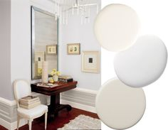 Be clever in planning out this calming palette. Cream, white and gray can be the perfect backdrop.