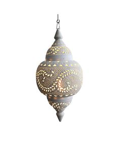 The very detailed design of the Moroccan White Spherical Pendant gives a stunning statement when hang in your ceiling. This is great for dining rooms, bedrooms and living rooms. The spherical penda. Moroccan Ceiling Light, Moroccan Lighting, Moroccan Lamp, Moroccan Lanterns, White Ceiling, Moroccan Style, Lantern Pendant Lighting, Ceiling Pendant, Ceiling Lights