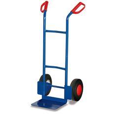 GTARDO.DE:  Stahlrohrkarre, Tragkraft 200 kg, Maße 562 x 531 x 1100 mm, Schaufel 320 x 250 mm, Rad 250 x 60 mm, Höhe 1100 mm 72,00 €
