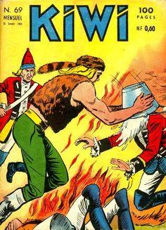 BD des années 60, Blek le roc... che KIWI... Le bon temps ou un trappeur franchouillard foutait la paté aux britishs... Tout fout le camp...
