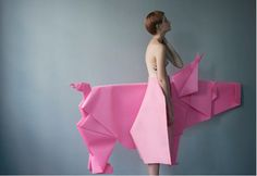 sophie delaporte comme des garcons idomenee 3 LOVE this for the whimsy, creativity, origami/sculptural effect! Foto Fashion, Fashion Art, Editorial Fashion, Fashion Design, Paper Fashion, Mode Origami, Editorial Photography, Fashion Photography, Art Photography