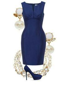 Une combinaison élégante de bleu Le bleu est classé parmi les nuances les plus nobles. Business Fashion, Business Attire, Classy Outfits, Beautiful Outfits, Classy Dress, Work Fashion, Fashion Looks, Style Fashion, Jw Mode