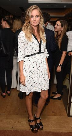 The actress and model attended the launch of the QP Lounge bar in Dover Street. - Total Street Style Looks And Fashion Outfit Ideas Cute Fashion, Modest Fashion, Fashion Outfits, Fashion Trends, Cressida Bonas, Preppy Style, My Style, Cocktail Outfit, Style Finder
