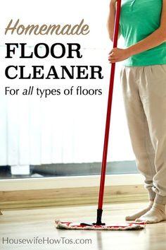 The Best Homemade Floor Cleaner Cleaning Tips Homemade