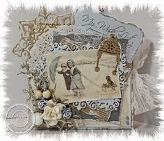 Cards by Astrid: Christmas Mini Book Christmas Card Crafts, Christmas Minis, Christmas 2015, Handmade Christmas, Vintage Christmas, 3d Cards, Mini Books, Christmas Inspiration, Greeting Cards Handmade
