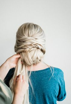 Tutorial: Twisted Updo – Walker Tape Twisted Updo Hair Extension T… - stringcrass. Romantic Hairstyles, Retro Hairstyles, Trending Hairstyles, Everyday Hairstyles, Black Women Hairstyles, Straight Hairstyles, Curly Hairstyles, Hair Extensions Tutorial, Tape In Hair Extensions