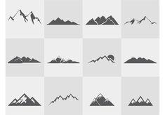 Mountain-silhouettes-vector-set: