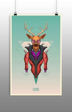:: Deer Style :: - Ilustración by C.David Miranda B., via Behance