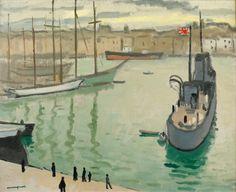 Albert Marquet (1875 - 1947) Marseille, le bateau japonais , 1916