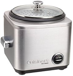 off on CUISINART 7 Cup Rice Cooker.Now making the perfect rice dish is easy with the new brushed stainless Cuisinart rice cooker. Small Rice Cooker, Best Rice Cooker, Slow Cooker, Cooking Bowl, Cooking Tips, Cooking Steak, Cooking Games, Cooking Light, Cooking Classes