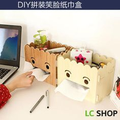 Buy 'Lazy Corner – Smile-Accent Wooden DIY Tissue Box' with Free International Shipping at YesStyle.com. Browse and shop for thousands of Asian fashion items from China and more!