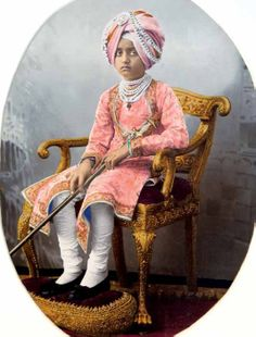 "Maharaja Bhupinder Singh (1891-1938) of Patiala,1900. From ""Posing For Posterity: Royal Indian Portraits"", by Pramod Kumar"