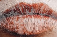 Peta Clancy, Lips (detail), 2014, from the series Punctures, chromogenic print
