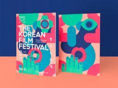 The Korean Film Festival: Design & Illustration by Il-Ho Jung | HeyDesign Graphic Design & Typography Inspiration