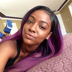 Purple Dip-Dyed Hair