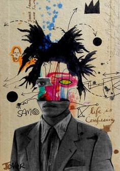 "Saatchi Art Artist Loui Jover; Drawing, ""samo (basquiat)"" #art:"