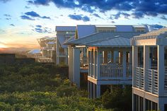 Seaside, Florida    Seaside cottages with sleeping porches, tin roofs, crows nests, and breathtaking views are just a few of the characteristics that make this Gulf Coast town a utopian community and a real work of art.