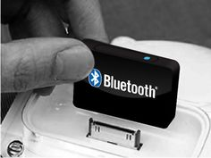 Bluetooth Wireless Audio Receiver from The OpenSky. If they can make this, then they can make audio transmitters as well.