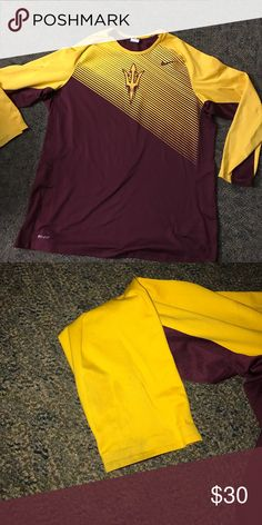 Arizona State Nike Shooting Shirt This ASU shooting shirt is in good condition for being a few years old. Just wear on right sleeve. Nike Shirts Tees - Long Sleeve